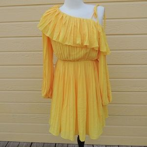 Endless Rose Pleated One Shoulder Dress Small NWT